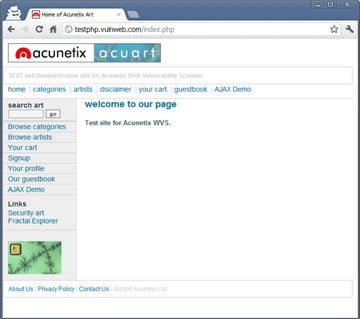 Target Website Example for CSRF Attack