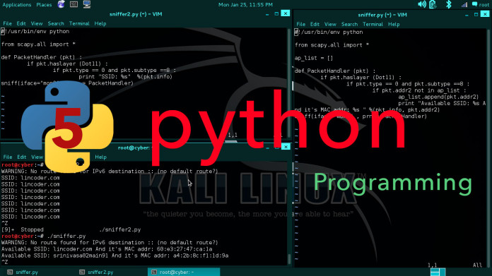 Sniffing Access Points and Mac Addresses Using Python | ls /blog