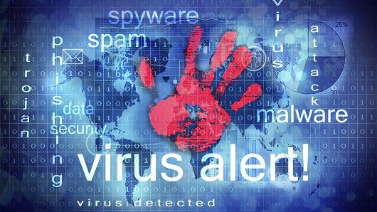 Malware, spam, virus, cybersecurity