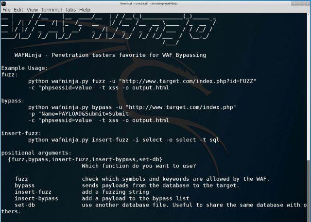 WAFNinja - Web Application Firewall Attack Tool - WAF Bypass